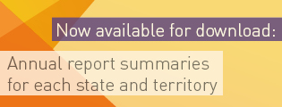 Now available for download: Annual report summaries for each state and territory.